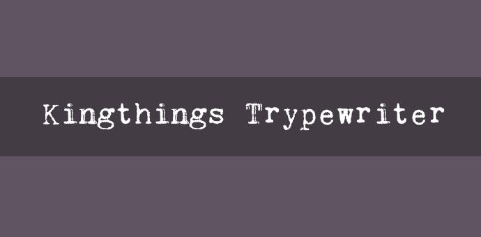 font typewriter gratis